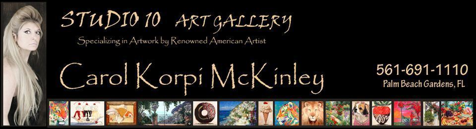 Carol Korpi McKinley -  Art, Gallery, Paintings, Abstract Art, Abstract Paintings, Landscapes, Landscape Paintings, Mixed Media, Photography, Abstracts, Artwork available at Studio Ten Gallery, Palm Beach Gardens, FL